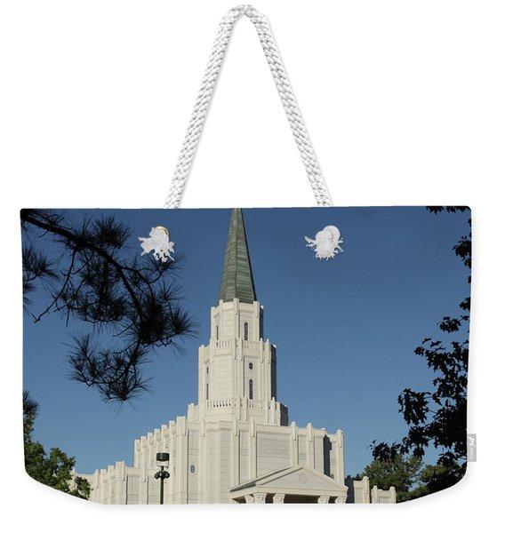 Houston Lds Temple Weekender Tote Bag