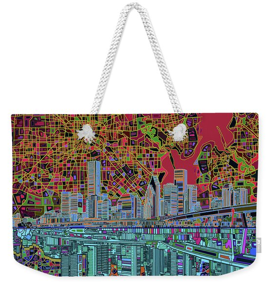 Houston Skyline Abstract 3 Weekender Tote Bag