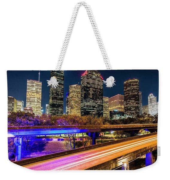 Houston Skyline From I-45 Weekender Tote Bag