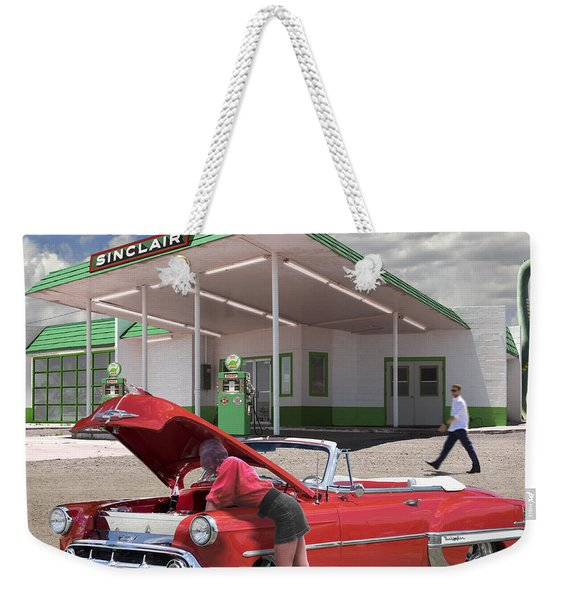 Over Heating At The Sinclair Station Weekender Tote Bag