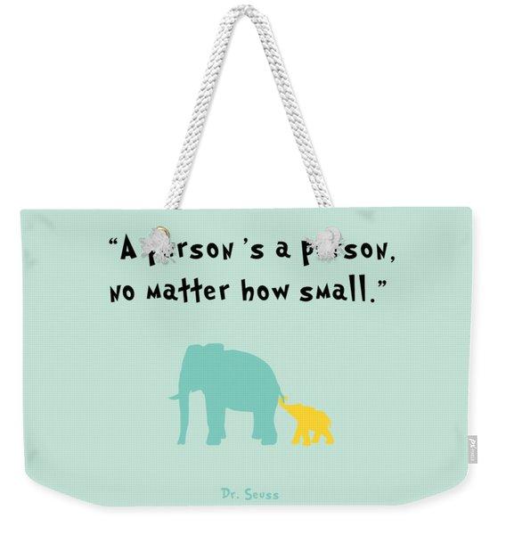 How Small Weekender Tote Bag