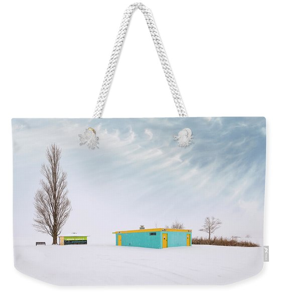How To Wear Bright Colors In The Winter Weekender Tote Bag