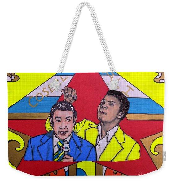 Howard Cosell And Muhammad Ali Weekender Tote Bag