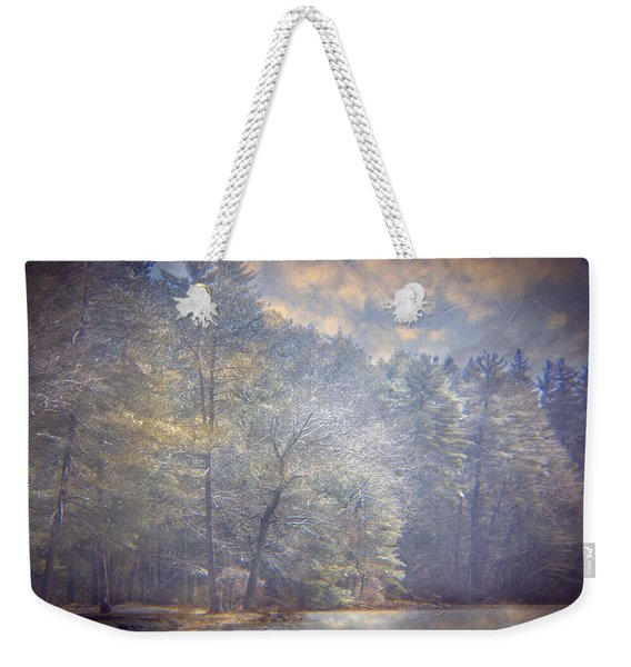 Howe State Park In Winter Weekender Tote Bag