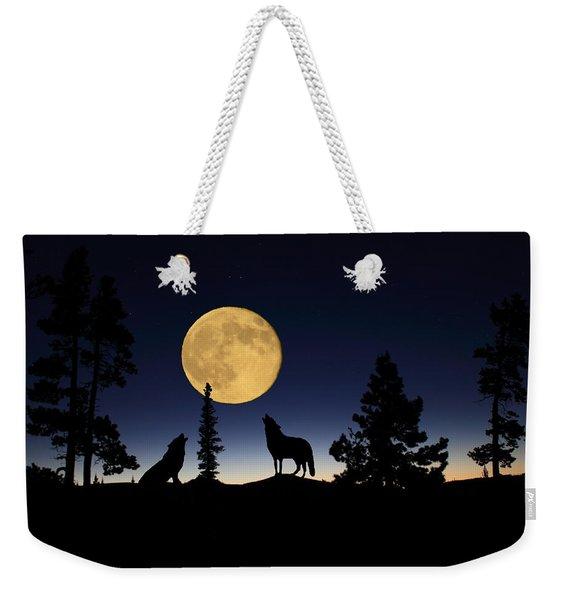 Howling At The Moon Weekender Tote Bag