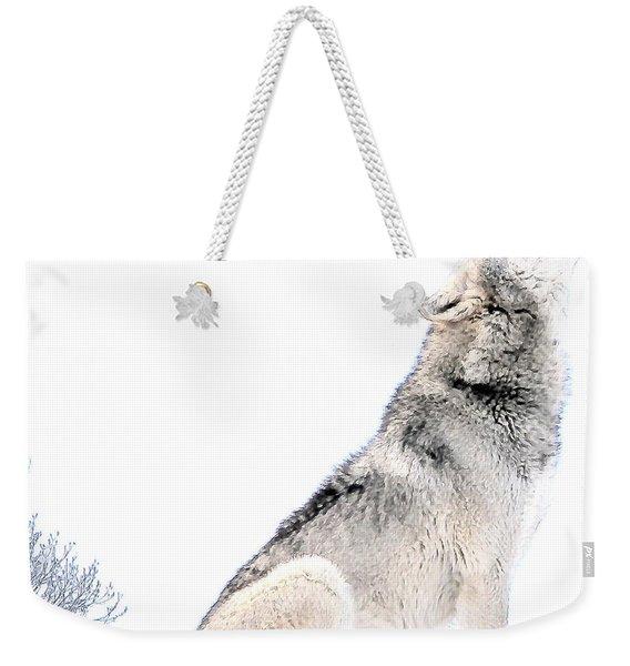 Howling Wolf 1 Weekender Tote Bag