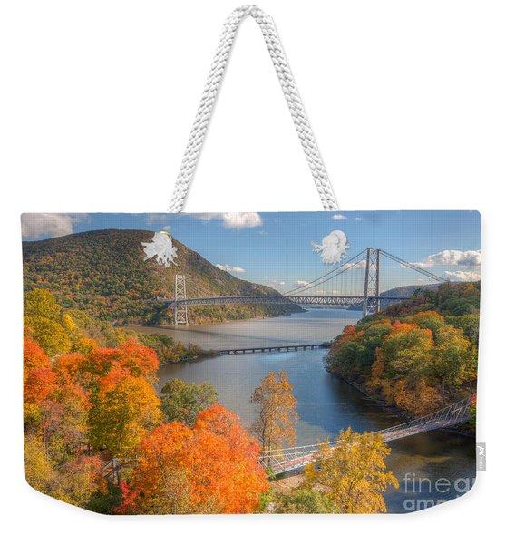 Hudson River And Bridges Weekender Tote Bag