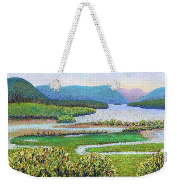 Hudson River In Summer Weekender Tote Bag