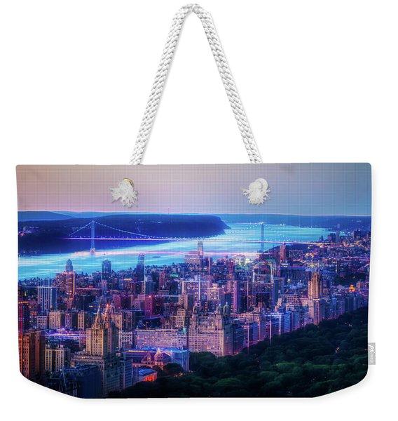 Hudson River Sunset Weekender Tote Bag