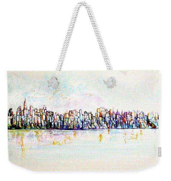 Hudson River View Weekender Tote Bag