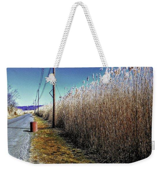 Hudson River Winter Walk Weekender Tote Bag