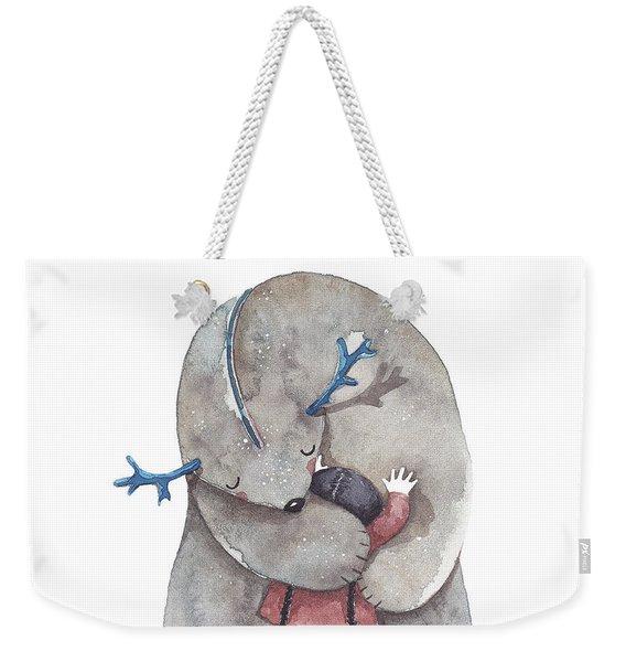 Hug Me Weekender Tote Bag