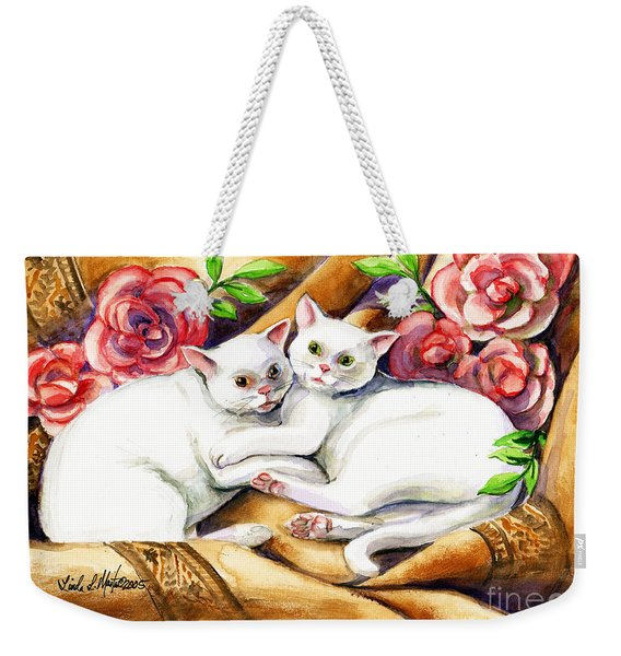 Hugging Cats Weekender Tote Bag