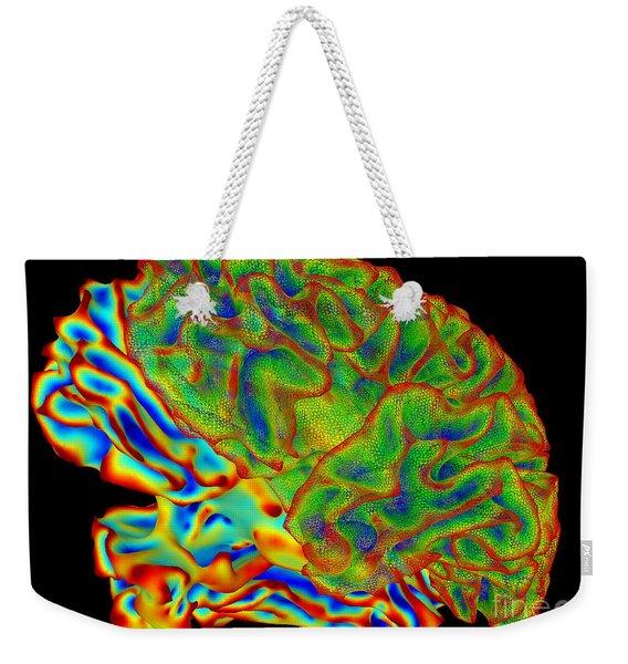 Human Brain, Surface Mapping Weekender Tote Bag