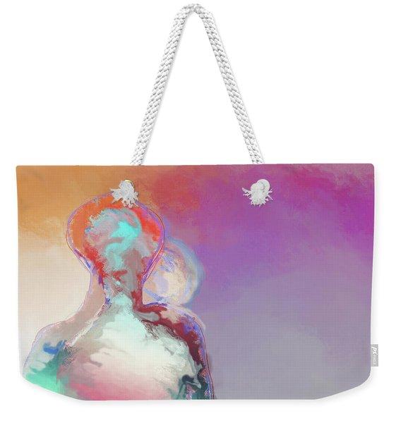 Humanoid Couple On Cloud Nine Weekender Tote Bag