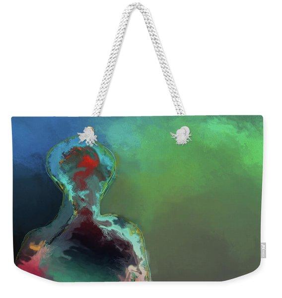Humanoid In The Fifth Dimension Weekender Tote Bag
