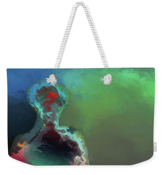 Humanoid In The Fifth Dimension Weekender Tote Bag