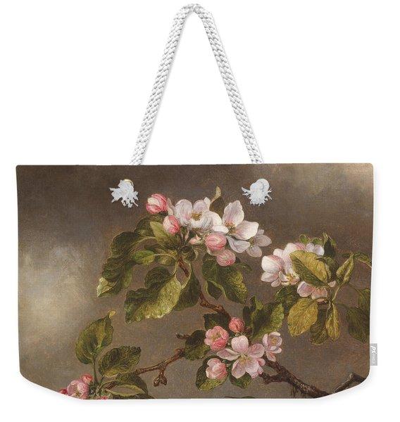 Hummingbird And Apple Blossoms Weekender Tote Bag