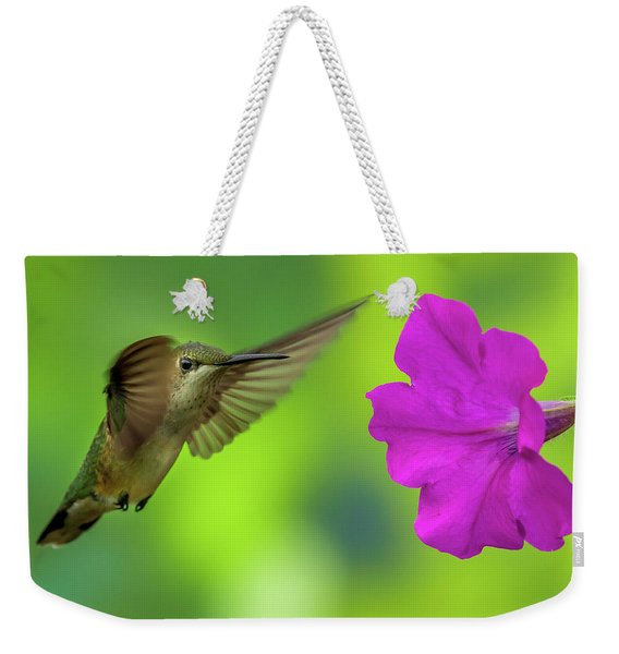 Hummingbird And Flower Weekender Tote Bag