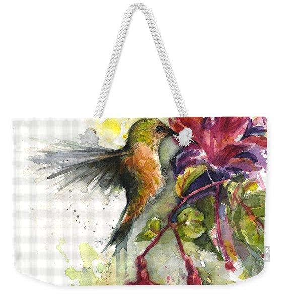 Hummingbird And Fuchsia Weekender Tote Bag