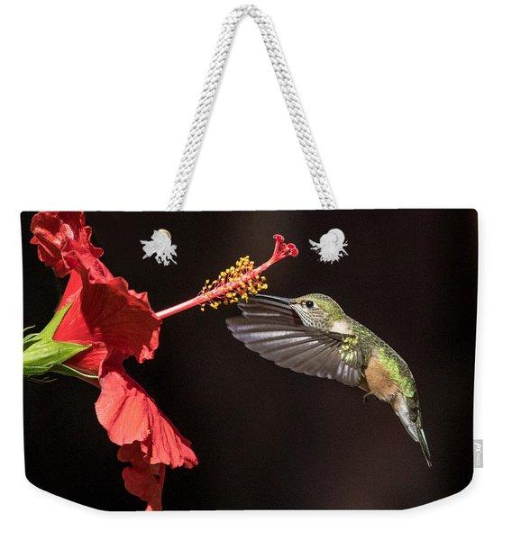 Hummingbird And Hibiiscus Weekender Tote Bag