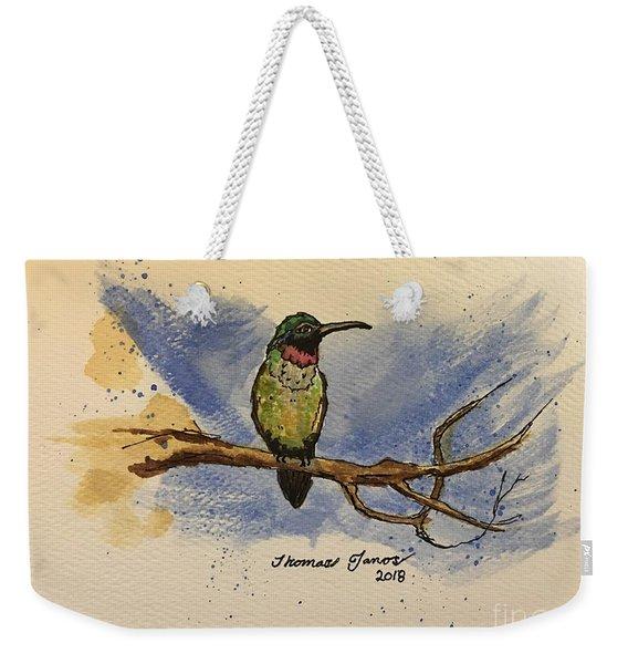 Hummingbird At Rest Weekender Tote Bag