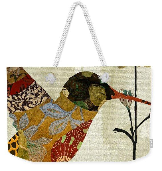 Hummingbird Brocade IIi Weekender Tote Bag