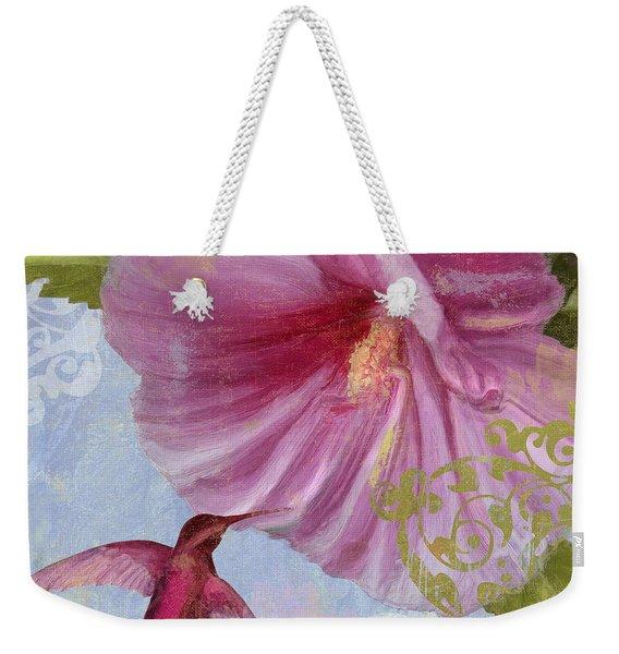 Hummingbird Hibiscus I Weekender Tote Bag
