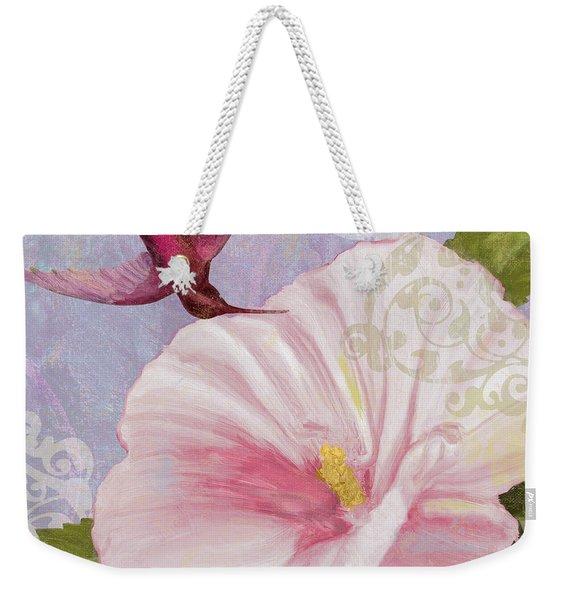 Hummingbird Hibiscus II Weekender Tote Bag