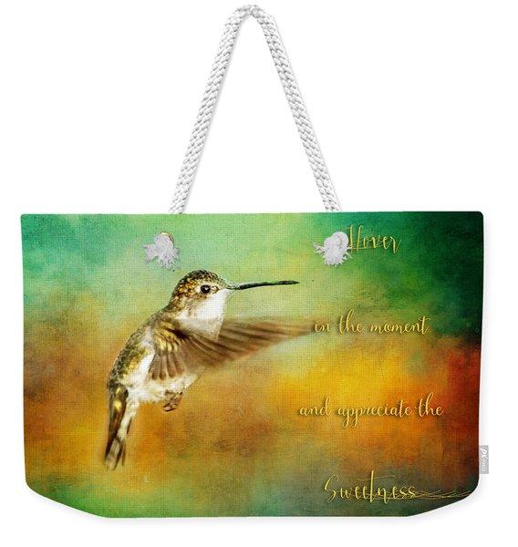 Hummingbird Hover Weekender Tote Bag