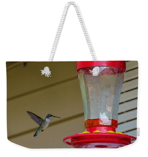 Hummingbird In Flight Weekender Tote Bag