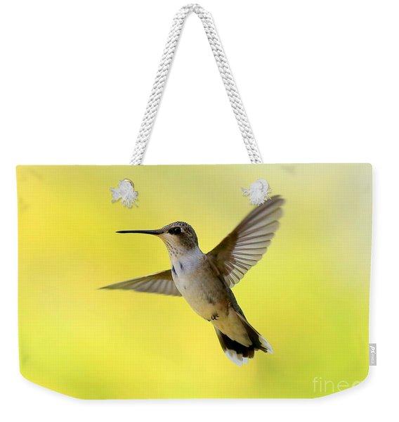 Hummingbird In Yellow Weekender Tote Bag