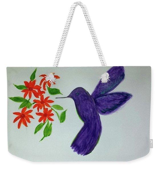 Hummingbird Joy Weekender Tote Bag