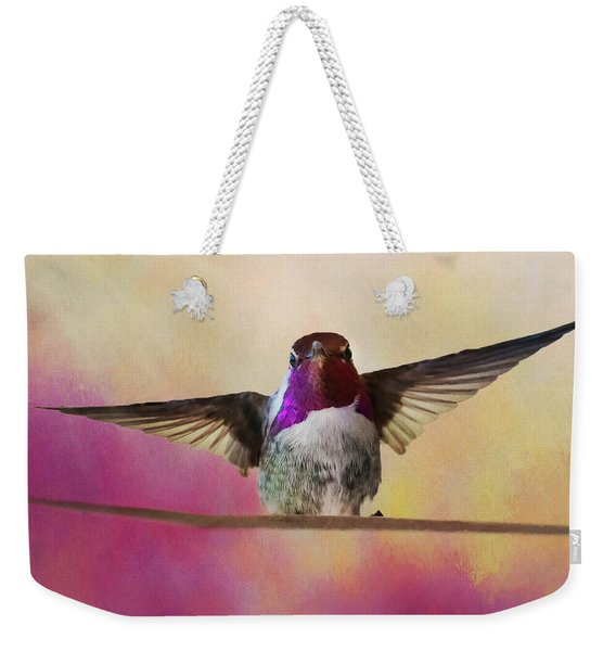 Hummingbird On A Wire Weekender Tote Bag