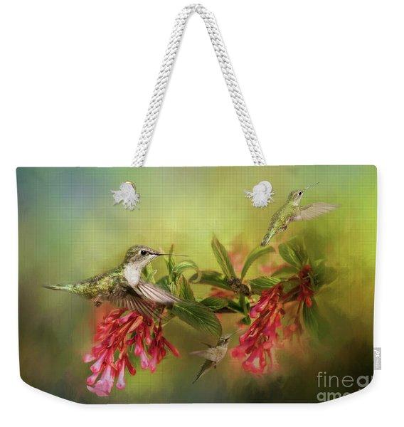 Hummingbird Paradise Weekender Tote Bag