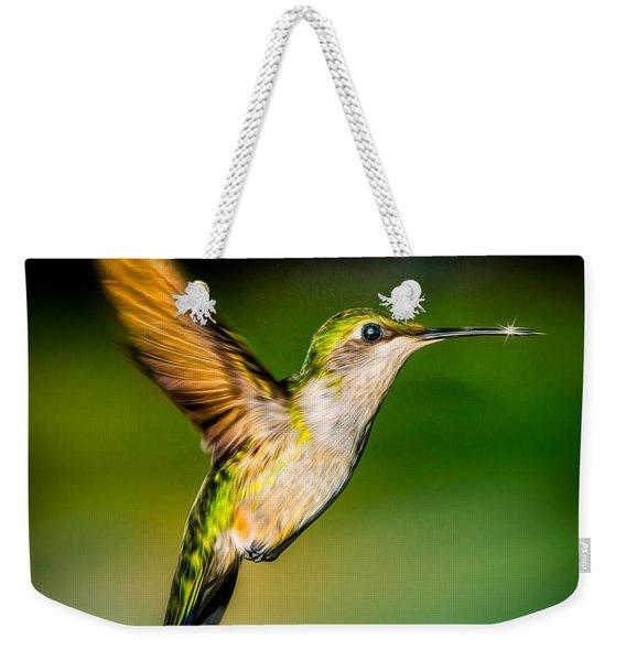 Hummingbird Sparkle Weekender Tote Bag