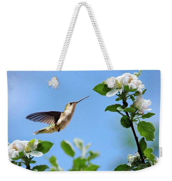 Hummingbird Springtime Weekender Tote Bag