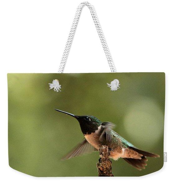 Hummingbird Take-off Weekender Tote Bag