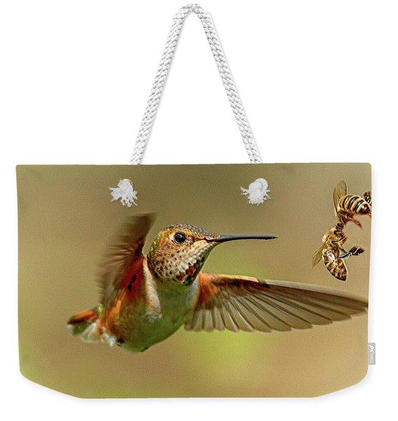 Hummingbird Vs. Bees Weekender Tote Bag