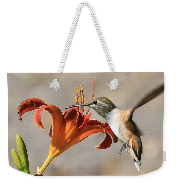 Hummingbird Whisper  Weekender Tote Bag