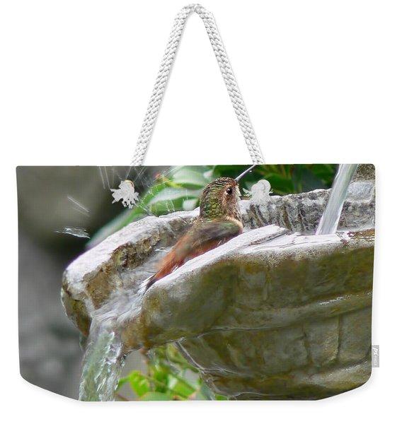 Hummingbirds Do Take Baths Weekender Tote Bag