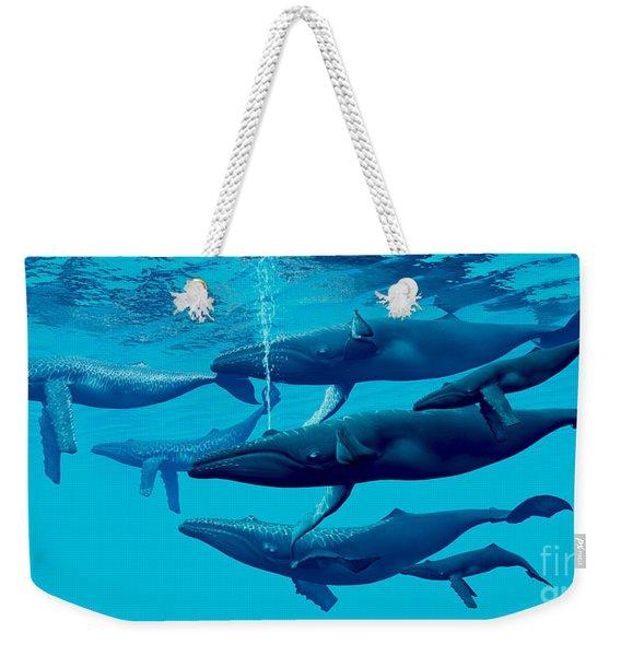 Humpback Whale Group Weekender Tote Bag