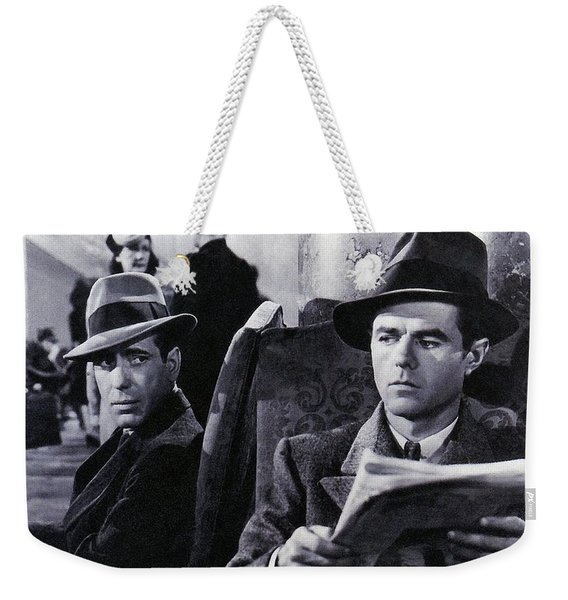Humphrey Bogart Elisha Cook Jr. As Wilmer The Gunman The Maltese Falcon 1941 Weekender Tote Bag
