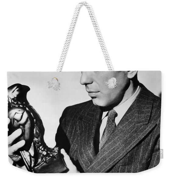Humphrey Bogart Holding Falcon The Maltese Falcon 1941  Weekender Tote Bag