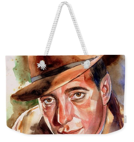 Humphrey Bogart Portrait Weekender Tote Bag