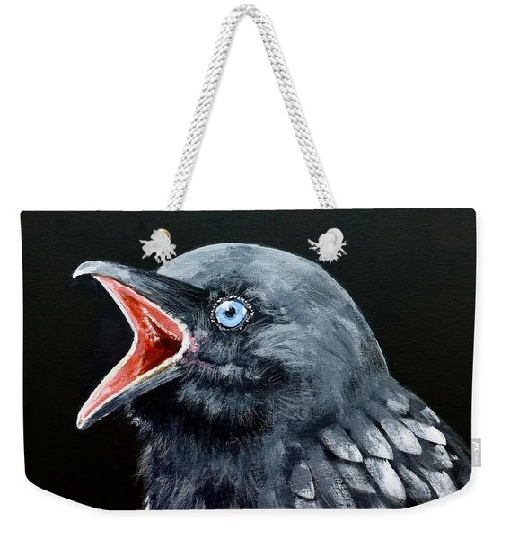 Hungry Baby Raven Weekender Tote Bag