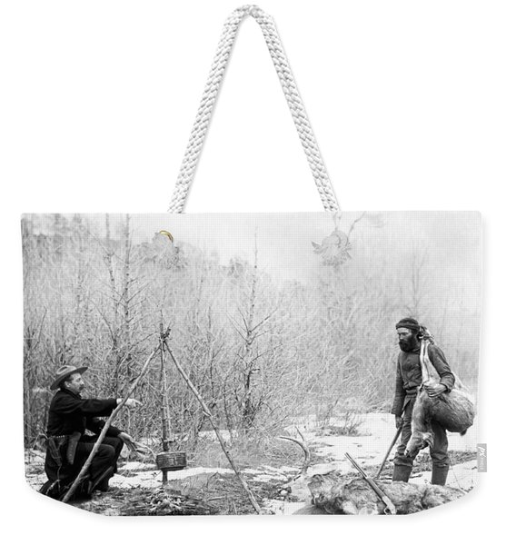 Hunting Camp Winter 1887-88 -- South Dakota Weekender Tote Bag