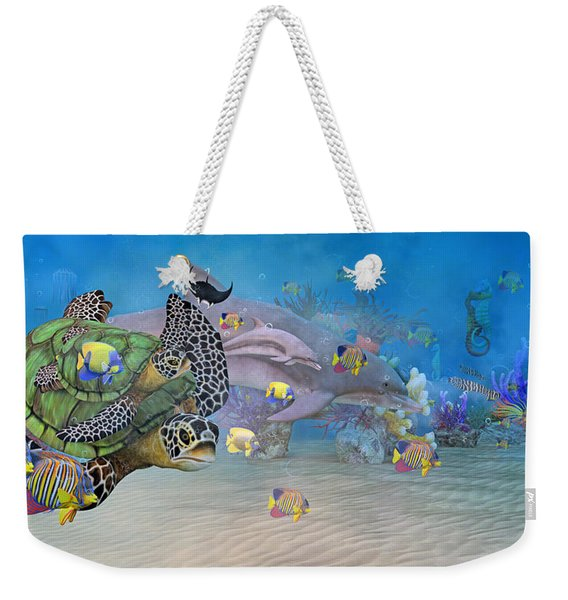 Huntington Beach Imaginative  Weekender Tote Bag