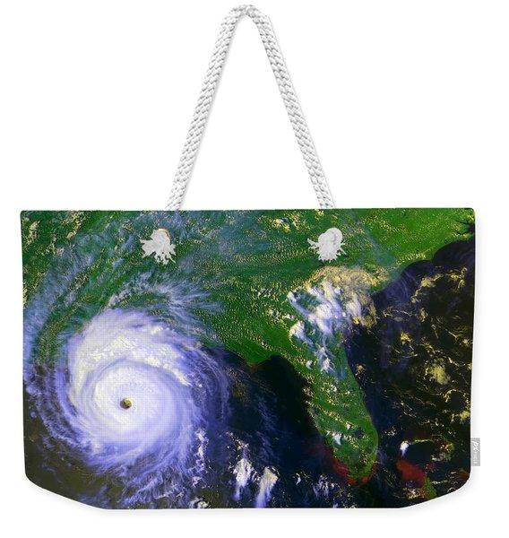 Hurricane Andrew, Goes Image, 1992 Weekender Tote Bag
