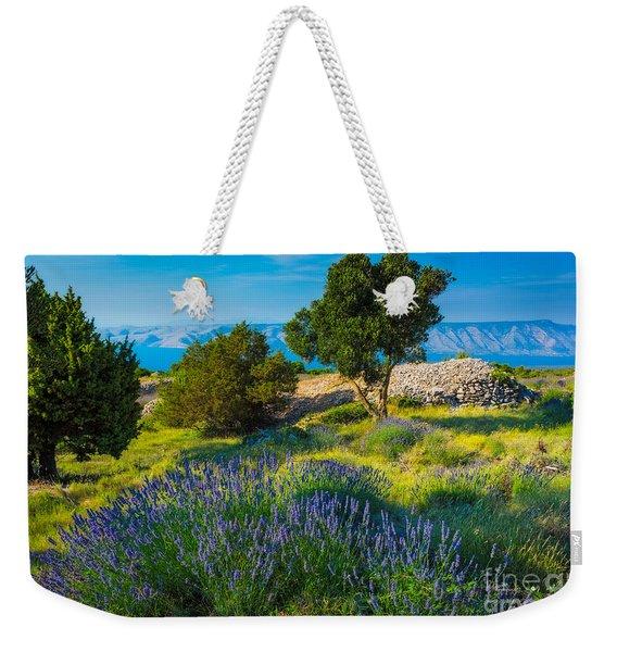 Hvar Lavender Field Weekender Tote Bag